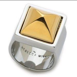 🆕️ Rebecca Minkoff/Gold Pyramid Ring